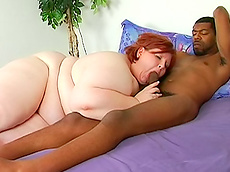 Amita - blowjob, interracial, redhead, fat, hardcore, HD