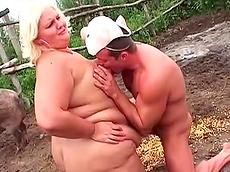Melinda, Janos Volt - blowjob, outdoors, cumshot, balls sucking, fat, nipple sucking, hardcore