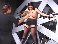 stockings, spanking, fat, clothespins, HD