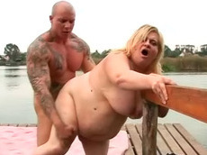 Amanda, Nevil - blowjob, outdoors, blonde, cumshot, fat, HD, fucking