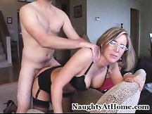 Lonely wife hook up from the internet Desirae Spencer MILF cocksucking