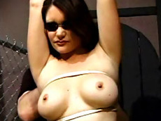 brunette, shaved pussy, slut, ass, busty, fat, HD, tied